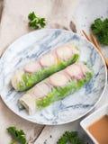 Rolo do vegetariano Imagem de Stock