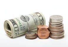 Rolo dos dólares imagem de stock