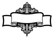 Rolo e espada Fotografia de Stock Royalty Free