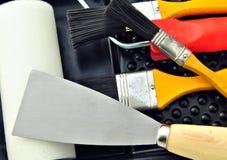 Rolo, escovas e escovas de pintura Imagens de Stock Royalty Free