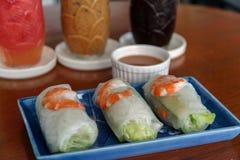 Rolo fresco do camarão Foto de Stock Royalty Free
