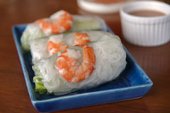Rolo fresco do camarão Imagem de Stock