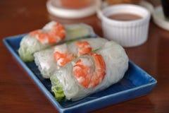 Rolo fresco do camarão Imagens de Stock