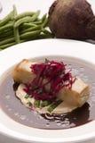 Rolo fritado do pato com a maionese do feijão verde Fotografia de Stock