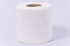 Rolo novo do lenço de papel isolado no fundo branco Fotografia de Stock Royalty Free