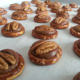 Rolo Pretzel Turtle Treats Immagini Stock