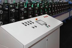 Máquina do Rollforming Fotografia de Stock