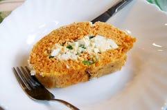 Rolo saudável da cenoura com ovos Imagens de Stock