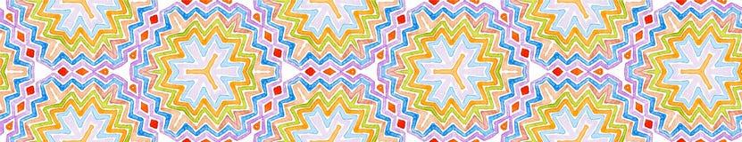Rolo sem emenda colorido da beira Waterco geométrico ilustração stock