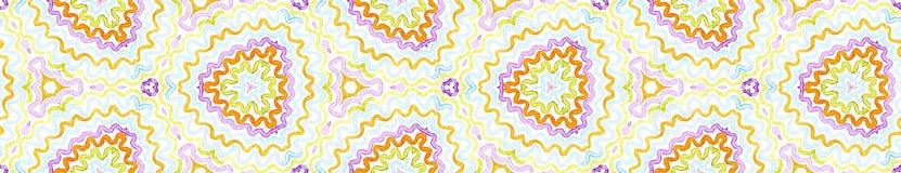 Rolo sem emenda colorido da beira Waterco geométrico ilustração do vetor