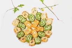 Rolo vegetal verde e alaranjado Foto de Stock Royalty Free
