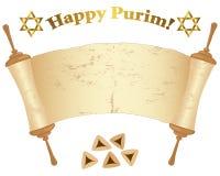 Rolo velho de Torah. fotos de stock royalty free