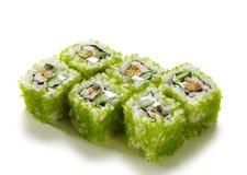 Rolo verde das ovas dos peixes de vôo Foto de Stock Royalty Free