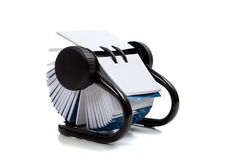 Rolodesk file on a white background stock image