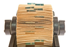 Rolodex – close up Stock Photo Royalty Free Stock Image