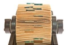 Rolodex –接近的储蓄照片 免版税库存图片