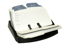 Rolodex Royalty Free Stock Photos