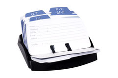 Rolodex Stockfoto