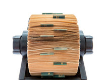 rolodex obrazy stock