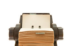 rolodex lizenzfreie stockfotos