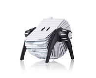 Rolodex, d'isolement Photographie stock libre de droits