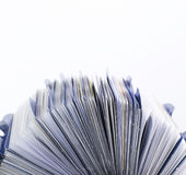 Rolodex Side View Royalty Free Stock Photography