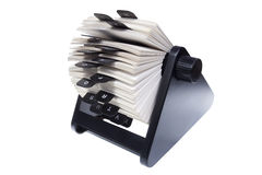 Rolodex on white background Royalty Free Stock Photos