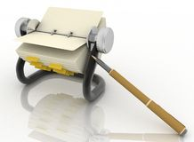 Rolodex y pluma Imágenes de archivo libres de regalías