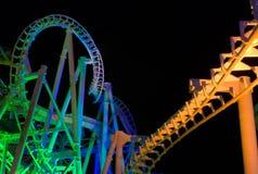 Rolorcoaster (Nacht) Lizenzfreie Stockfotografie