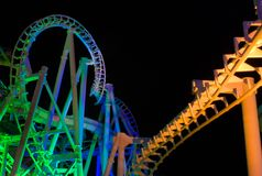 Rolorcoaster (night) Royalty Free Stock Photography