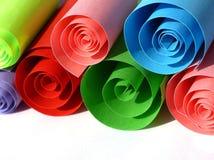 Rolos coloridos do papel Foto de Stock Royalty Free
