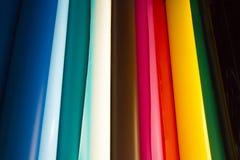 Rolos coloridos do vinil imagem de stock
