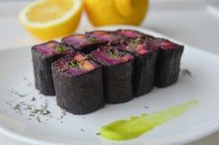 Rolos da beterraba como o ` do shuba do ` da salada Imagem de Stock Royalty Free