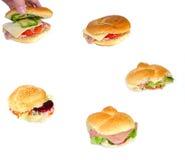 Rolos da salada Fotografia de Stock