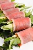 Rolos de atum com vegetais Foto de Stock Royalty Free