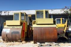 Rolos de estrada oxidados velhos Imagem de Stock