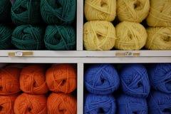 Rolos de lãs Imagem de Stock