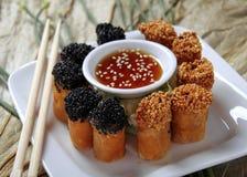 Rolos de mola chineses Foto de Stock Royalty Free