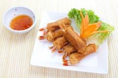 Rolos de mola do camarão Fotografia de Stock