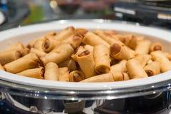 Rolos de mola fritados Foto de Stock Royalty Free