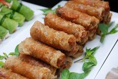 Rolos de mola (gio) de Cha, culinária vietnamiana Imagem de Stock Royalty Free