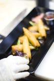 Rolos de mola no restaurante Imagem de Stock