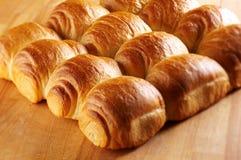 Rolos de pão crunchy frescos foto de stock