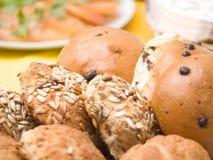 Rolos de pão feitos home deliciosos Imagens de Stock