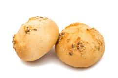 Rolos de pão francês isolados imagem de stock royalty free