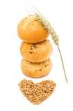 Rolos de pão francês isolados fotografia de stock royalty free