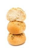 Rolos de pão francês isolados imagem de stock