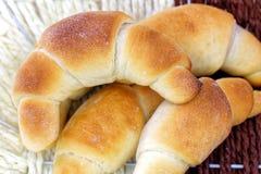 Rolos de pão fresco Fotos de Stock Royalty Free