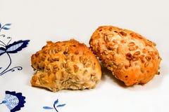 Rolos de pão saudáveis Imagem de Stock