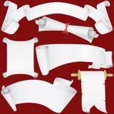 Rolos de papel e diploma ajustados (vetor, CMYK) Ilustração do Vetor